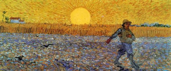 V. van Gogh, Seminatore al tramonto (1888), Museo Kröller-Müller, Otterlo